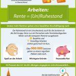 Infografiken aus der Finanzwelt - Ruhestand ist nur was für Alte