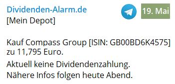 Compass Group im Dividenden-Alarm