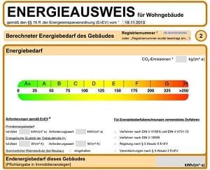 Muster Energieausweis Bedarfsausweis online